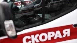 Иномарка протаранила машину скорой помощи вцентре Петербурга— момент ДТП