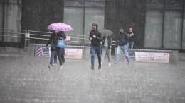 Видео: первый день лета принес вдесятки регионов России дожди сградом игрозами
