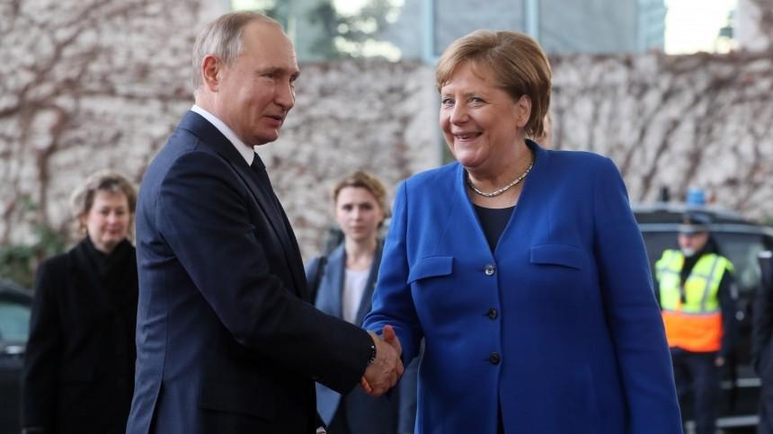 «Высоко ееценю»: Путин пообещал скучать поМеркель