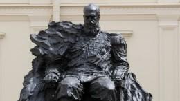 Скульптор заодин день исправил случайную ошибку впамятнике Александру III
