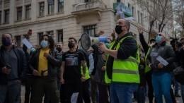 ВСтокгольме полиция разогнала митинг против ограничений всвязи спандемией