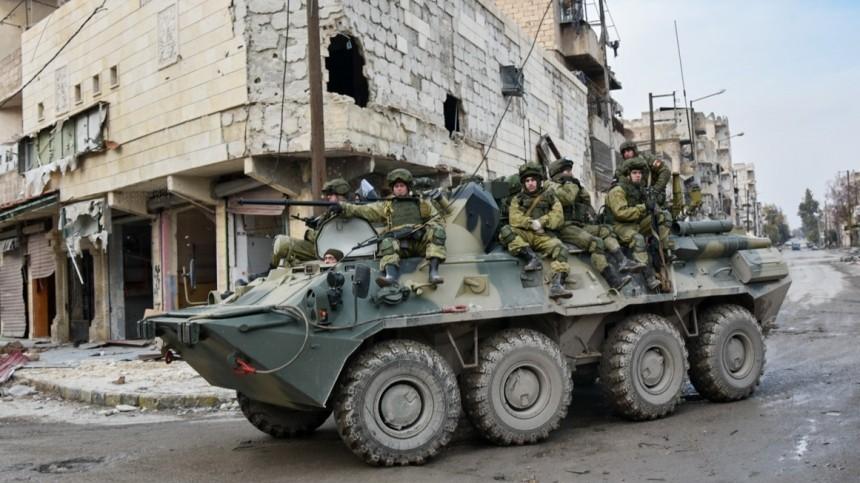 Российский военный погиб при подрыве бронеавтомобиля вСирии