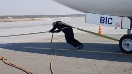 Богатырь изСургута сдвинул на15 метров 40-тонный Boeing