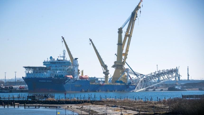 Укладку морской части первой нитки «Северного потока— 2» завершили