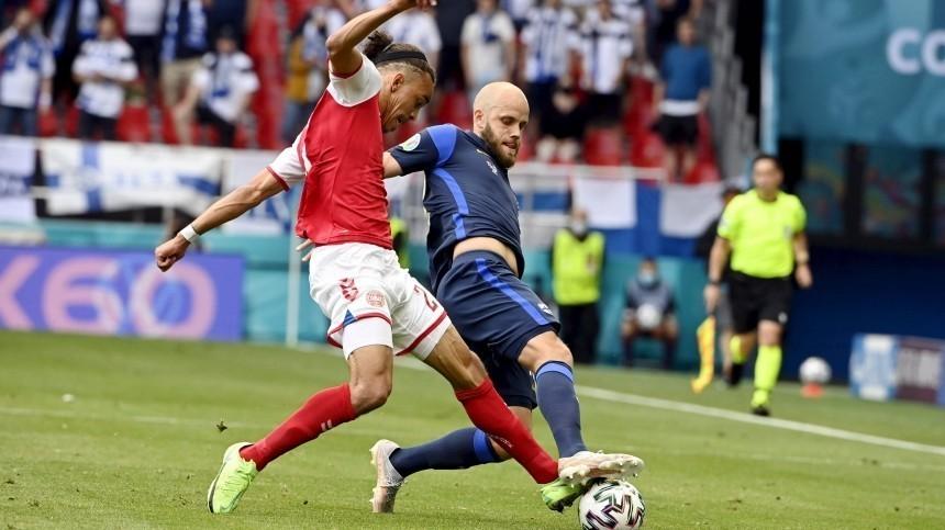 Финляндия выиграла уДании вматче Евро-2020 после инцидента сЭриксеном