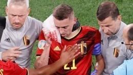 Защитник сборной Бельгии получил двойной перелом стенки глазницы наЕвро-2020