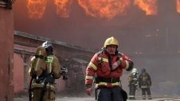 Мощный пожар произошел возле газовой заправки вПетербурге