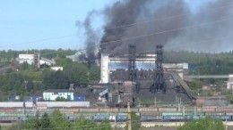 ВКузбассе загорелось здание угольной обогатительной фабрики— видео