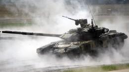 НаУкраине смоделировали уничтожение дроном российского танка Т-90— видео