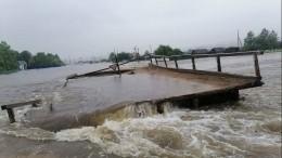 Несколько мостов обрушилось вЗабайкалье из-за вызванных ливнями паводков