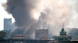 Ктушению пожара наскладе фейерверка вМоскве привлекли авиацию МЧС РФ