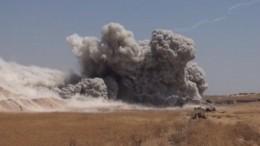 Российские военные взорвали подземный город боевиков вСирии