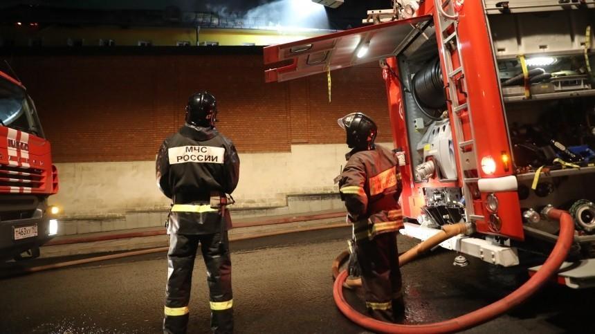 Пожар произошел вцентре для больных COVID-19 вМоскве