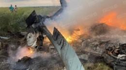 Дым иязыки пламени: Видео сместа крушения вертолета Росгвардии вЛенобласти
