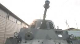 Пугающий урок: Уралец катал детей на«немецком танке» подеревне вДень памяти искорби