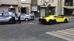 ВМоскве перехватили люксовую «Lamborghini Кокорина»— фото