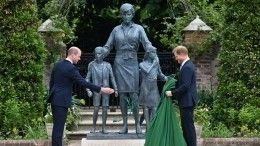 Гарри иУильям открыли статую принцессы Дианы всаду Кенсингтонского дворца