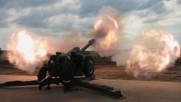 Артиллеристы показали научениях снайперскую стрельбу изпушек