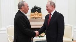 Путин поздравил вличном разговоре Назарбаева с81-летием