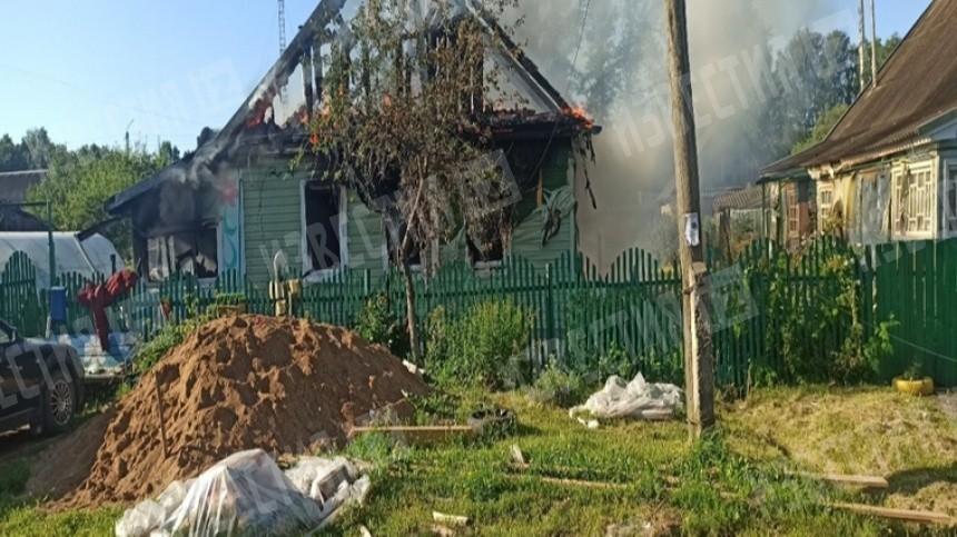 Видео изнутри сгоревшего под Смоленском дома, где погибли пятеро детей