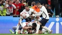 Сборная Англии одолела Данию вдополнительное время ивышла вфинал Евро-2020