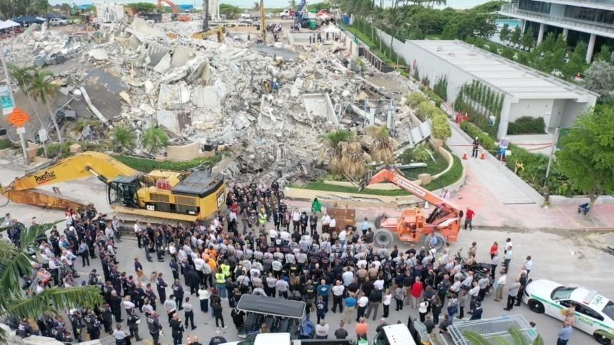 ВМайами завершили поисковую операцию наместе обрушения дома