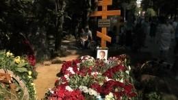 Видео: могила Меньшова наНоводевичьем кладбище утонула вцветах