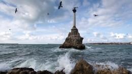 Взатопленном Крыму снова объявили штормовое предупреждение
