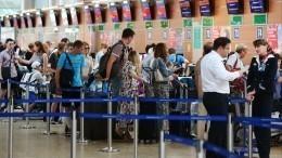 Видео: ваэропортах Москвы собрались гигантские очереди
