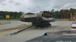 Недосмеха: Военные потеряли танк посреди федеральной трассы наСахалине