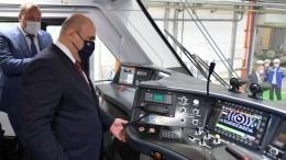 Мишустин осмотрел обновленный электропоезд «Иволга» наТверском вагоностроительном заводе