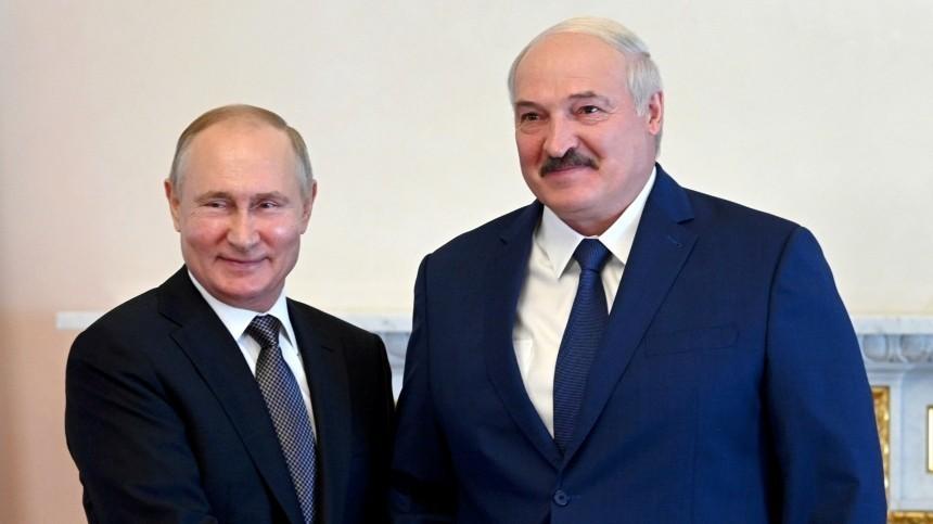 Путин иЛукашенко договорились оцене нагаз для Белоруссии в2022 году