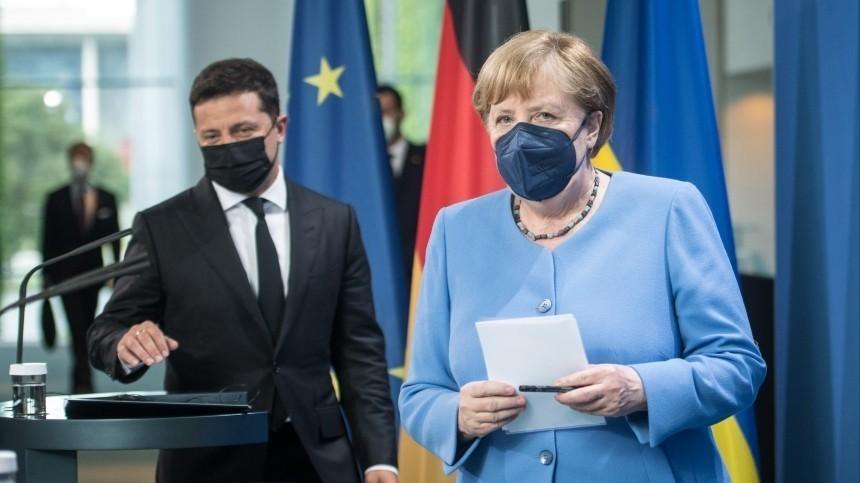ВРаде заявили, что Меркель вежливо послала Зеленского с«Северным потоком— 2»