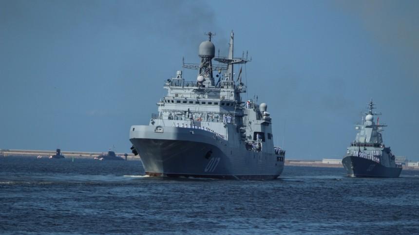 ВПетербурге прошла первая сводная тренировка парада ВМФ— фото
