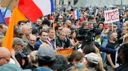 ВоФранции проходят акции протеста против антиковидных мер