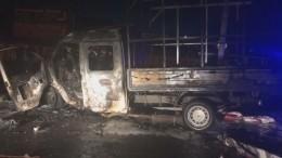 Пьяный водитель «Газели» устроил огненное ДТП вТюмени— кадры сместа аварии