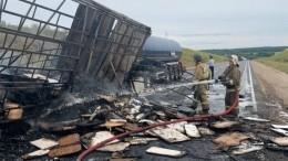 Водитель заживо сгорел после ДТП стремя фурами под Нижним Новгородом
