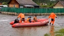 Забайкальское село затопило после прорыва дамбы из-за сильных дождей