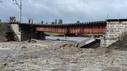 Железнодорожный мост рухнул вЗабайкалье из-за аномальных ливней— видео