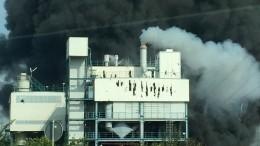 Мощный взрыв произошел нахимзаводе Bayer вГермании— видео