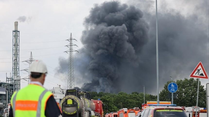 Момент взрыва нахимзаводе вГермании попал навидео