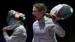 Российские саблистки выиграли золото вкомандном первенстве наОлимпиаде вТокио