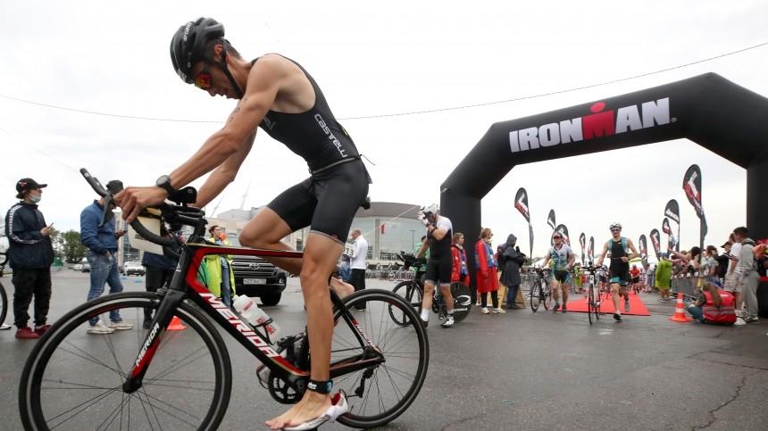 ВПетербурге прошли крупные соревнования потриатлону Ironman