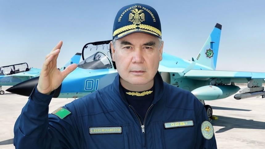 Президент Туркменистана лично испытал сверхзвуковой военный самолет
