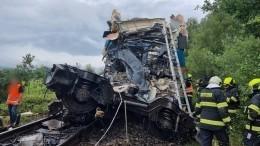Двое погибли, семеро вреанимации: кадры сместа столкновения поездов вЧехии