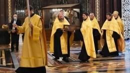 Ковчег смощами Александра Невского вернулся вХрам Христа Спасителя