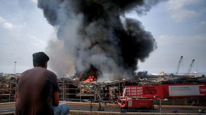 Жители Бейрута устроили беспорядки вгодовщину взрыва впорту