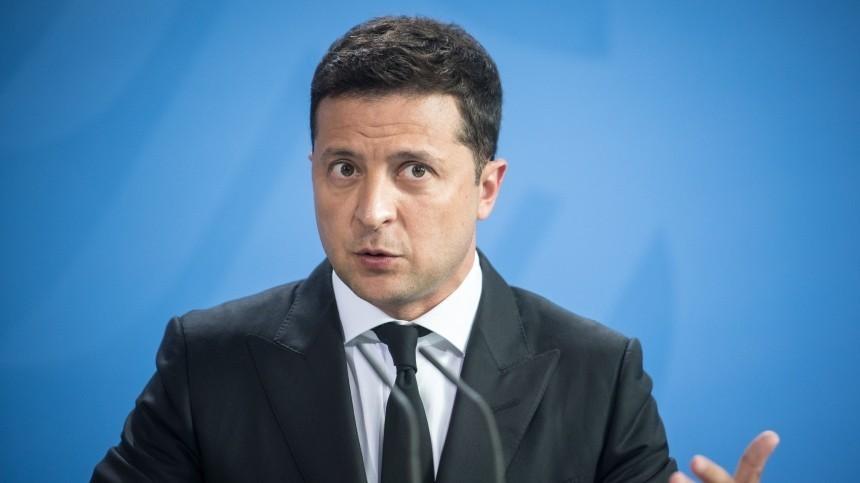 Зеленский обвинил Россию внарушении международного права из-за Донбасса