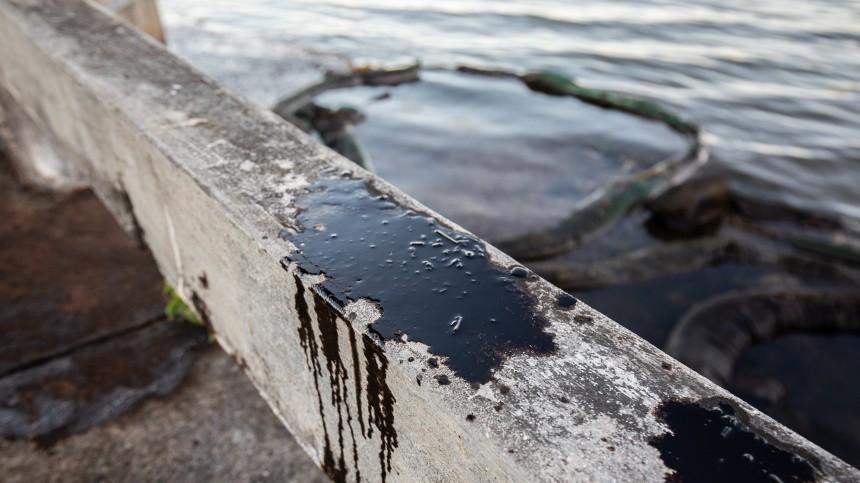 Площадь разлива нефти под Новороссийском уточнили соспутника