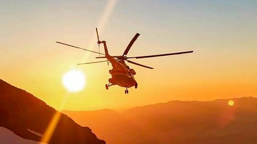 Вертолет стуристами рухнул натерритории Камчатского края